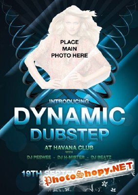 Dynamic  Dubstep Flyer Template
