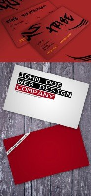 Tattooist Business Template and red modern business card