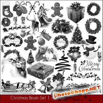 Christmas Brush Set 1