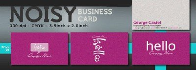 Noisy business card