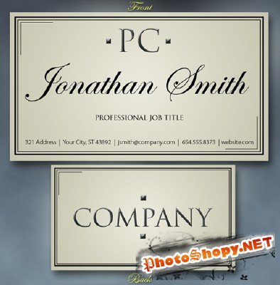 Free Business Card template Vol.4