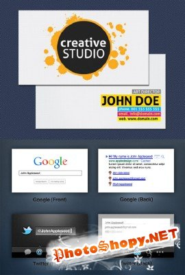 Classic and Social Business Cards