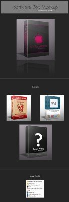 Software Box PSD Template Mock-Up
