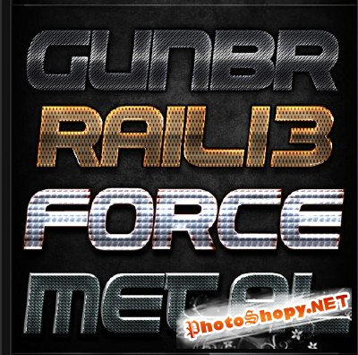 Metall Text Effects PSD