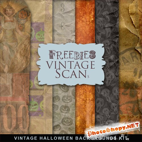 Textures - Vintage Halloween Backgrounds