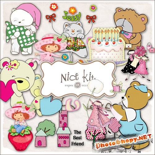 Scrap-kit - Babys Nice Set #1