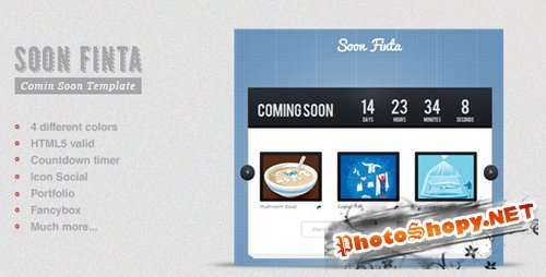 ThemeForest - Soon Finta Coming Soon Template - Rip