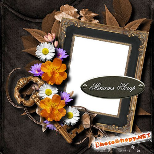 Quick-page - Miriams Scrap - Frames With Flowers