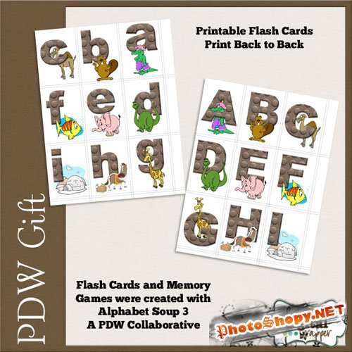 Scrap-kit - Childrens Alpha