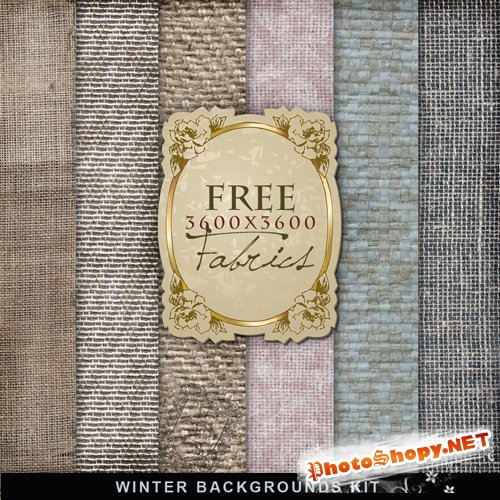Textures - Winter Fabric Backgrounds #1
