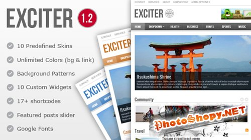 Exciter Magazine Mojo-themes WP Theme