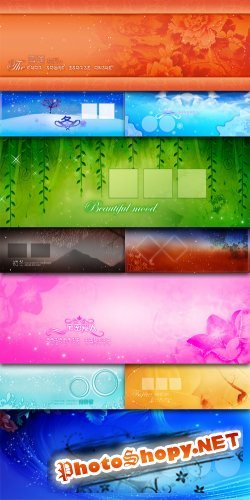 Squandered Romance Series - Winter Snow - Cross-Page Photo Template Plane
