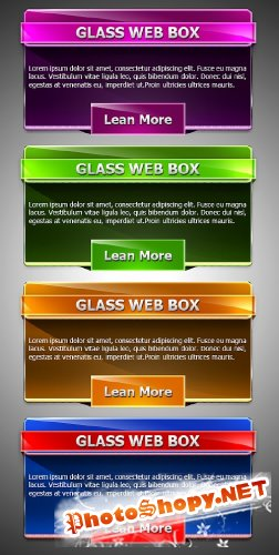 Элементы Веб дизайна - формат PSD