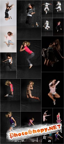Photo Cliparts - People in jump