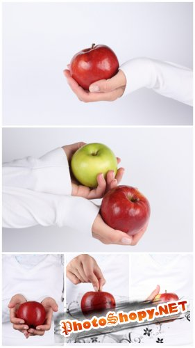 Photo Cliparts - Apple in hands
