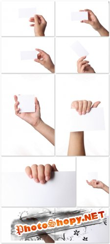 Photo Cliparts - Paper in hands