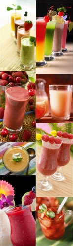 Berry Cocktails Cliparts - Berry, smoothies
