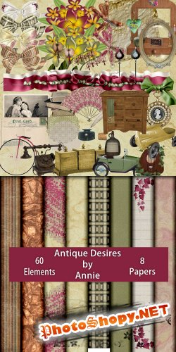 Scrap-set - Antique Desires