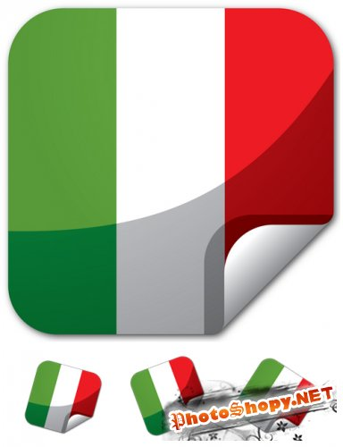 Continent Sticker Italy Vector