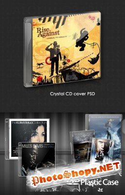 CD DVD Case and Crystal Case PSD