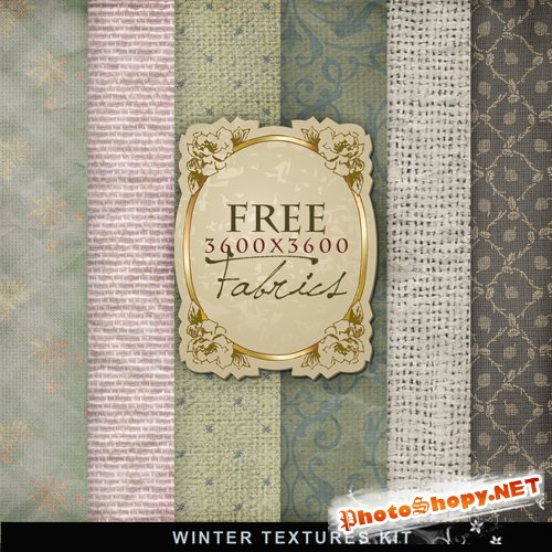 Textures - Winter Fabric Backgrounds #2