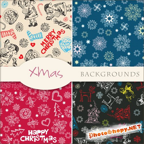 Textures - Christmas Backgrounds #4
