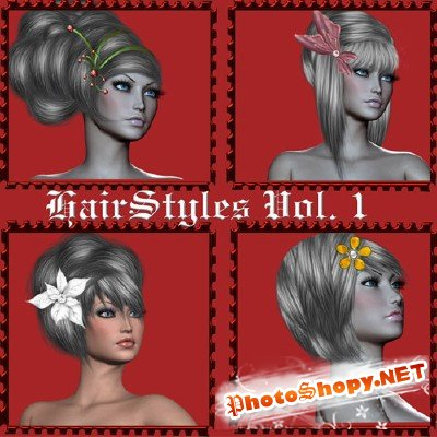 Painted Hairstyes vol.1 PSD