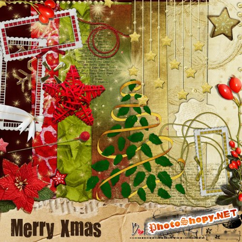 Scrap-set - Merry Christmas