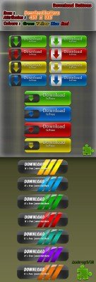 Layered Download Buttons Pack 2011