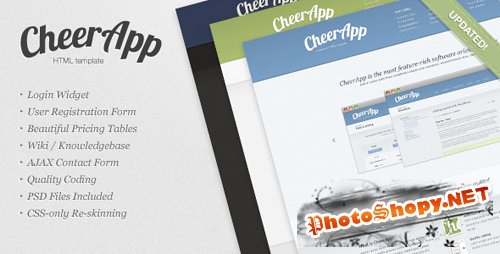CheerApp - ThemeForest Premium App HTML Template