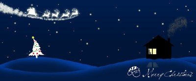 Christmas night psd file