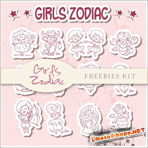 Scrap-kit - Girls Zodiac