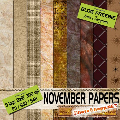 Textures - November Papers