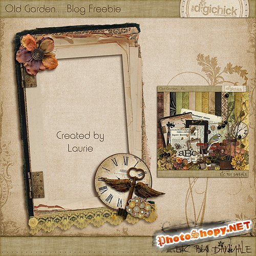 Scrap-kit - Cluster Frames - Old Garden