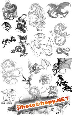 Dragons Brushes set 2