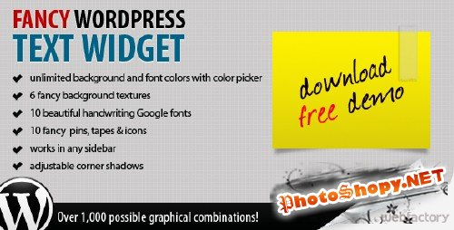 CodeCanyon Fancy Text Widget v1.0