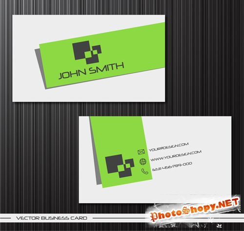 Creative Vector Green Personalized Business Card Template - 2