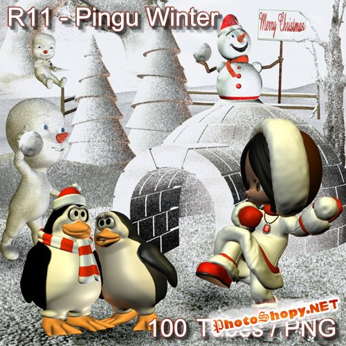 Scrap-kit - Pingu Winter