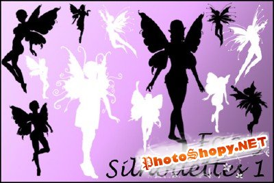 Faerie Silhouette Brushes 1