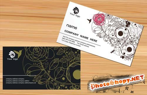 Personalized business card templates black art of fashion beauty salon