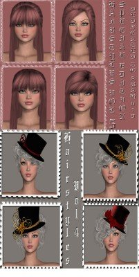 Hairstyles vol.4-5 PSD