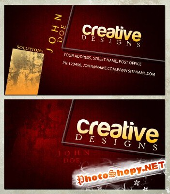 Creative Designs Business Cards Tempate