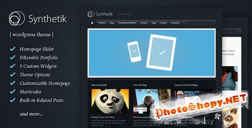 Themeforest Synthetik Wordpress Theme v2.5