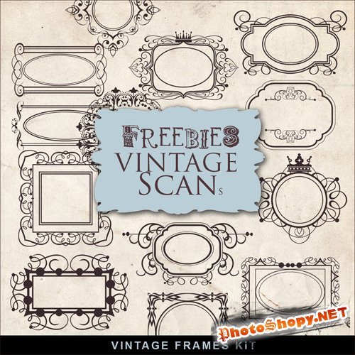 Scrap-kit - Vintage Border Frames