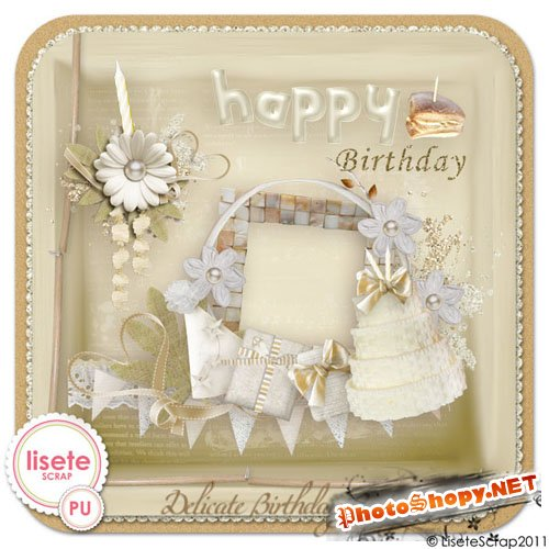 Scrap-kit - Delicate Bday Party