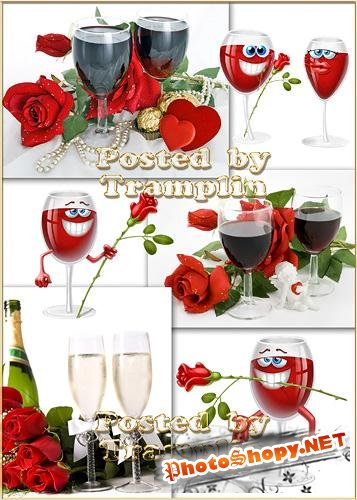 ���� � ���������� - Roses and champaign