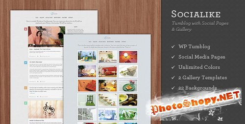 Themeforest - Socialike - Tumblog with Social Pages and Gallery