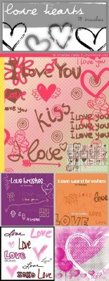 Love and Hearts Brushes Pack