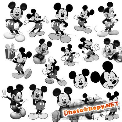 18 Mickey mouse brushes