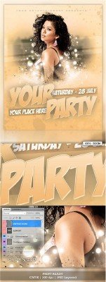 Creme Party Flyer PSD